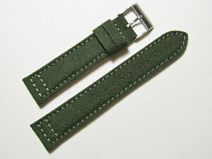22mm-Hadley-Roma-ms850-Herren-Army-oliv-Gruen-Cordura-Canvas-Watch-Band-Strap