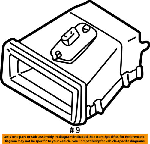 MAZDA OEM 00-06 MPV Blower Motor Air Outlet Vent Duct LC7061150C LC70-61-150C