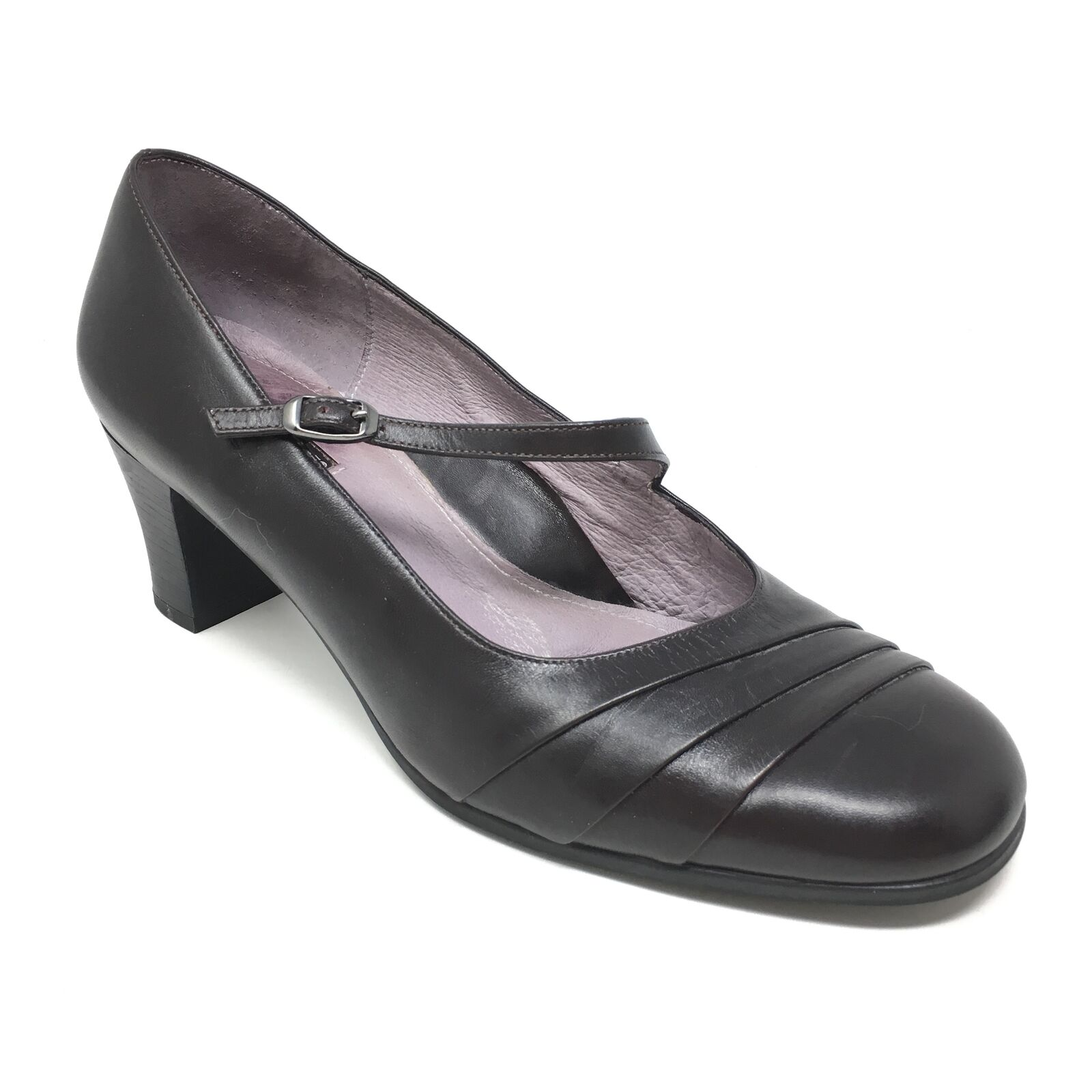 Women's Beautifeel Pump Heels shoes Sz 39 EU 8-8.5 US Mary Jane Brown Leather C13