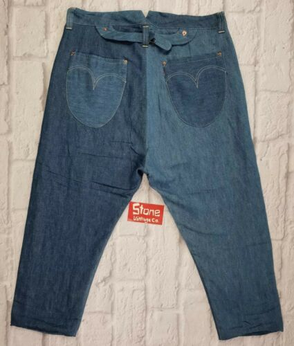 Levis 580 £ A conica goccia Picker Jeans W36 foderato Cinch rosso Nuovo cavallo Fishtail r7nHqFr