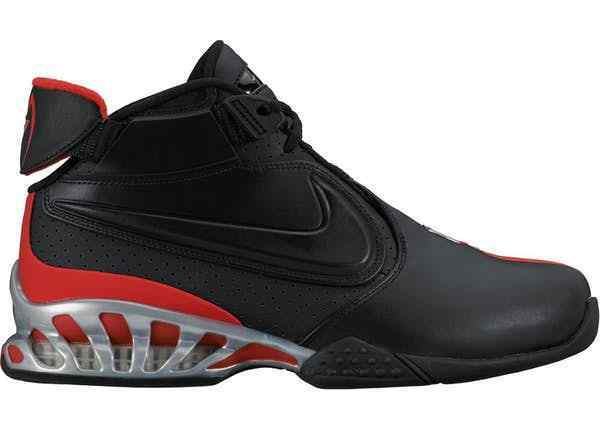 Size 8 NIKE Men AIR ZOOM VICK II 2 Shoes 599446 005 Black Red