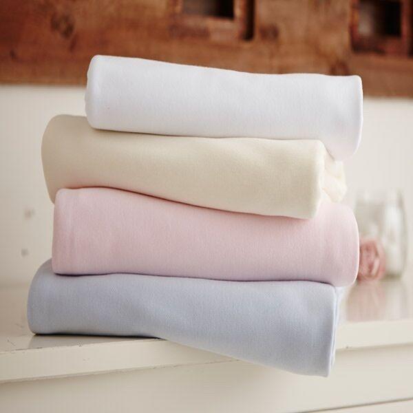 Pink Clair de Lune Jersey Cotton Interlock Fitted Sheet 2 Pack Crib//Pram