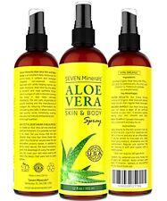 Aloe Vera SPRAY for Face, Skin & Hair - 99% ORGANIC, Made in USA, Big 12 oz - -