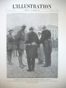 3948-BELGIQUE-ROI-ALBERT-DELIVRANCE-BRUGES-DENAIN-LAON-LILLE-L-039-ILLUSTRATION-1918