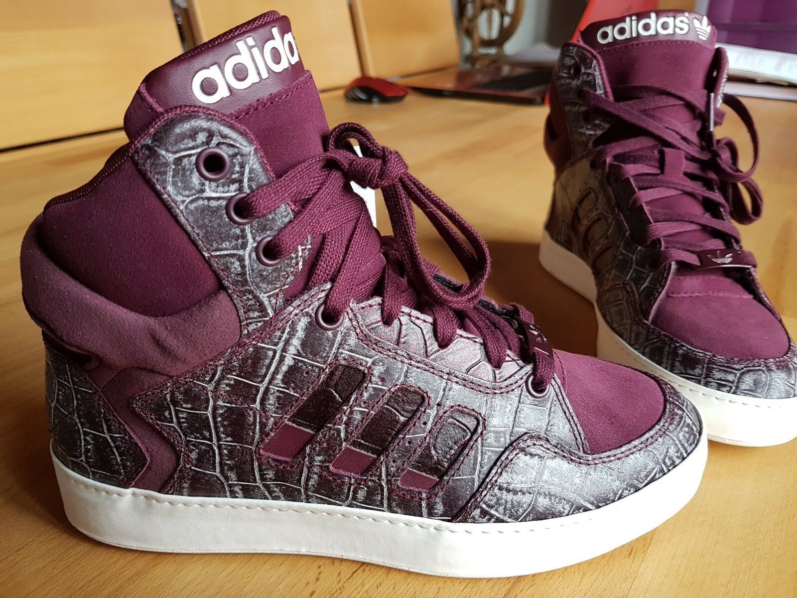adidas - Damen Kinder Sneaker - BANKSHOT 2. 0 W - ,36 2/3, Maroon, -NEU-