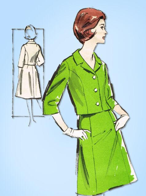 1960s Vintage Advance Sewing Pattern 2856 Easy Uncut Misses Suit