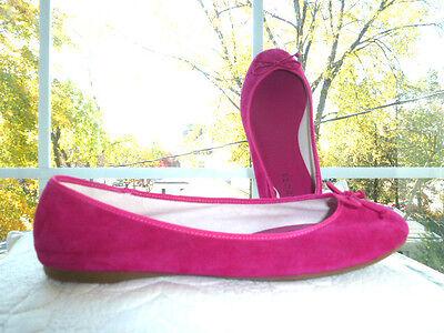TALBOTS Magenta Pink VELVET Ballet FLATS Shoes Size 9 W