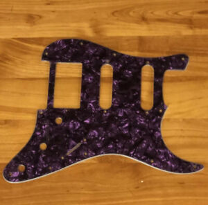 NEW-Purple-Pearloid-HSS-StratPICKGUARD-for-Fender-Humbucker-Single-Coil-Pickups