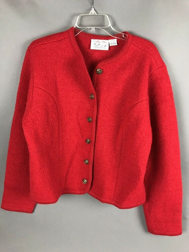 Wool Coat Tally Ho 24  Red Lined Classic