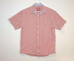 RM-Williams-Button-Front-Short-Sleeve-Shirt-Size-Men-039-s-Large