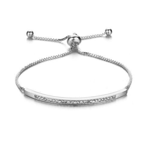 Adjustable Alloy Infinity Friendship Bracelet Bridesmaid Crystal Cubic Zircon
