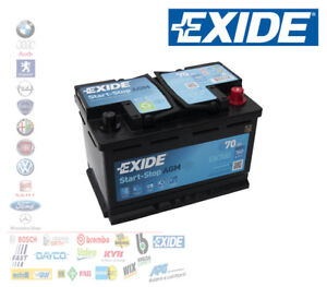 batteria per auto exide 70 ah ampere 760 en 12 volt start stop agm ek700 ebay. Black Bedroom Furniture Sets. Home Design Ideas