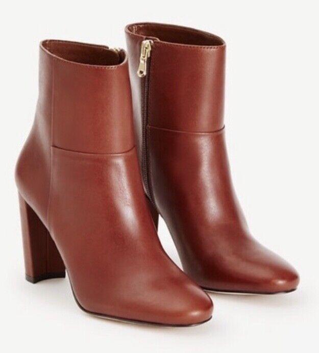 Ny w    o Box Ann Taylor Tallulah läder Booslipss in Modern Saddle Storlek  tidlös klassiker