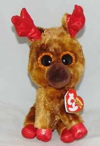 9e1693cd17a 2018 Ty Beanie Boos MAPLE the Moose Canadian Exclusive 6