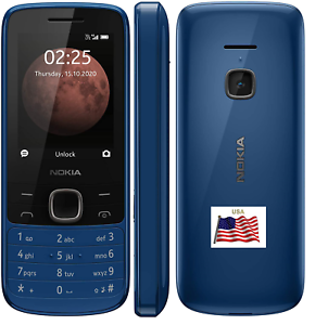 Nokia 225 Débloqué 4G Portable Senior Clapet Bleu T-Mobile Cricket Tracf