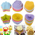 24PCs Silicone Cake Muffin Chocolate Cupcake Case Liner Baking Cup Mould XMAS