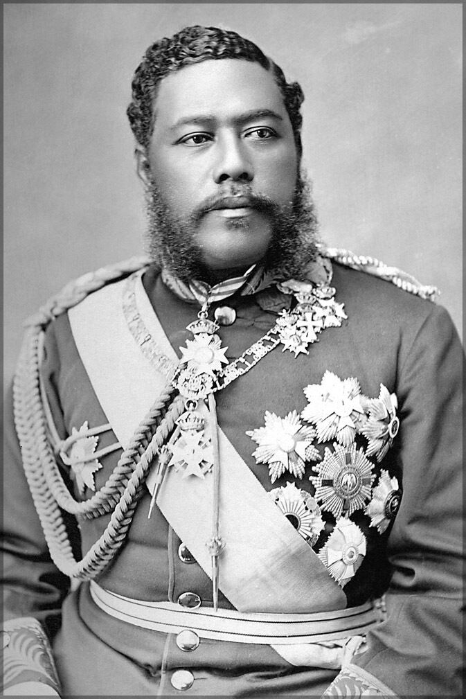 Plakat, Viele Größen; King David Kalakaua. 1882 King Of Hawaii
