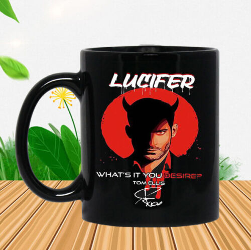 Lucifer What's It You Desire Tom Ellis Signature Coffee Mug