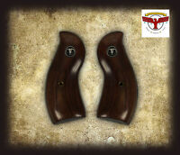 Ruger Redhawk Round Butt Style Aged Oak Grips + Steer Skull Medallions ^
