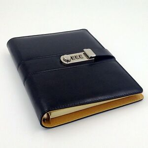 Details about A5 Code Password Lock Leather Cover Blank Diary Book, Secret  Notebook-3 colours