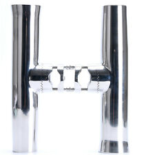 """2PCS! Stainless Tournament Clamp on Fishing Rod Holder for Rails 7/8"""" to 1"""""""