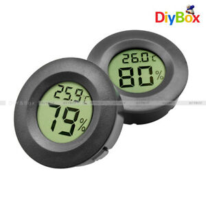 Digital-Cigar-Humidor-Hygrometer-Thermometer-Round-Black-Face-Humidity-Meter