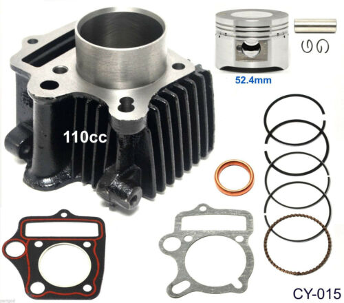 110cc Cylinder Gasket 52.4mm Piston Pin Ring Kit for ATV Go Kart Dirt Bike US e2