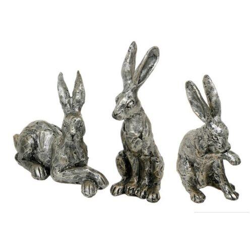 Hare Ornament Statue Bronze Effect Shudehill Sculpture Cast Resin Figurine 14cm