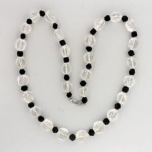 Natural-Rough-435-0ct-Quartz-Crystal-Black-Tourmaline-92-00ct-Necklace-27-Inches