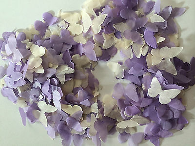 Purple Ivory Biodegradable Confetti Butterflies - Lavender Lilac Dark Purple