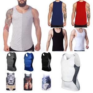 Men-Gym-Muscle-Bodybuilding-Sleeveless-Shirt-Tank-Top-Singlet-Fitness-Sport-Vest