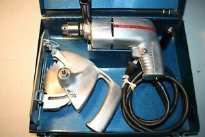 Vintage-ZEPHYR-Model-1950G-1-4-034-Electric-Drill-PET-Drill-Saw-Model-No-ZP-1-case