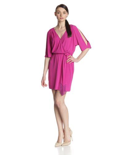 Jessica Simpson Women/'s Sz L Dolman Wrap Purple  Dress with Self Tie 2186-3