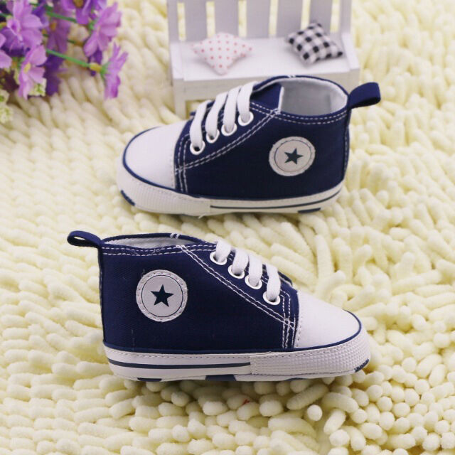 NEW! Infant Toddler Baby Boy Girl Kid Soft Sole Shoes Sneaker Newborn 0-18Months