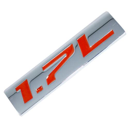 CHROME//RED METAL 1.7L ENGINE RACE MOTOR SWAP EMBLEM BADGE FOR TRUNK HOOD DOOR