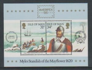 Isle-von-Mann-1986-Captain-Myles-Standish-Blatt-MNH-SGMS325
