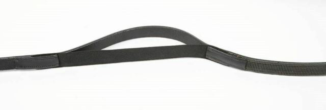 Reins Leather  - elastic - with rubber side - Full Black
