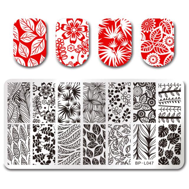 Born Pretty Nail Art Stamp Plate Manicure Image Template Leaf