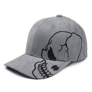 9c9677b3c Details about Charcoal Skull Skateboard Biker Skeleton Motorcycle Punisher  Baseball Cap Hat