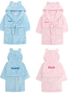 7e7135c77 Image is loading Personalised-Baby-Bath-Robe-Dressing-Gown-House-Coat-
