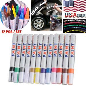12PCS-Waterproof-Permanent-Paint-Marker-Pen-Car-Tyre-Tire-Tread-Rubber-Metal-US