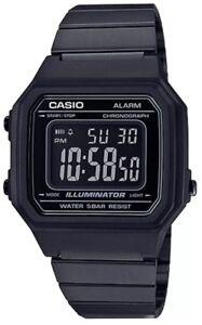 7cf16fe741de La foto se está cargando Nuevo-Reloj-Casio-Retro-Negro-Digital-Reloj-Unisex-