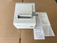 Epson Tm T88iv Model M129h Pos Thermal Receipt Printer Usb White Excellent Cond