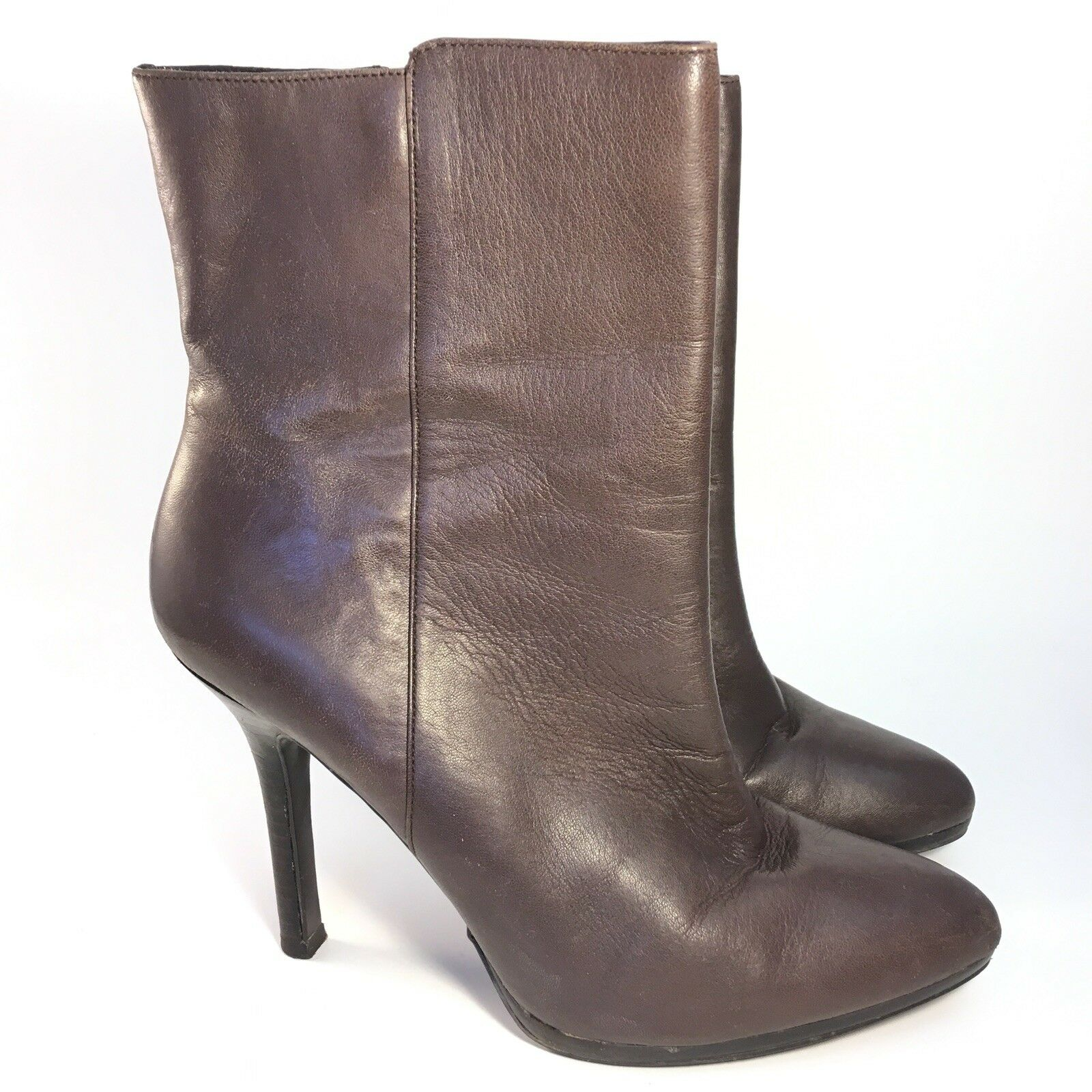 Ralph Lauren shoes 9 B Larissa Leather Ankle Boots Brown Stiletto Heel Booties
