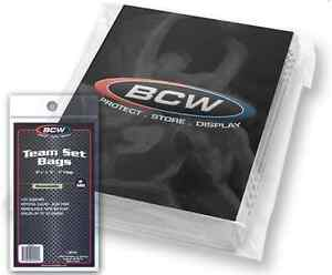 1000-Count-BCW-Resealable-Team-Set-Bags-10-Packs-3-3-8-034-x-5-034-Sports-Cards