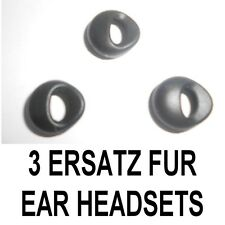 3 Ersatz Gummis für Ear Headsets Kopfhörer SAMSUNG HM 1100 1200 MOTOROLA JABRA