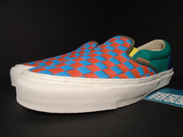 7ce92ba6435ddf VANS OG Classic Slip-on LX Woven Leather 50th Checkerboard Multicolor WTAPS  9.5 for sale online