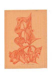 Fritz-Klee-original-Pastell-Zeichnung-1951-21x15cm