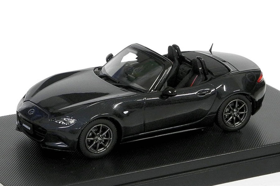 Hi-Story HS129BK 1 43 Mazda Roadster 2015 Jet Negro Mica