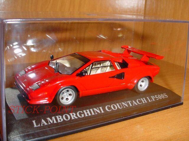 LAMBORGHINI COUNTACH LP500S LP-500-S RED 1 43 MINT